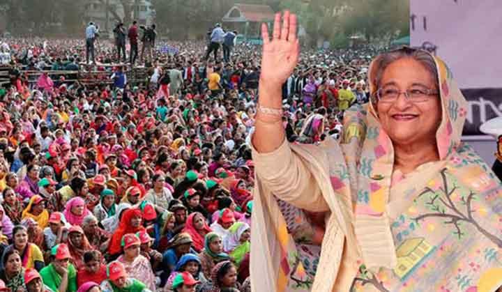 তিলোত্তমা রাজধানী করতে নৌকায় ভোট দিন : শেখ হাসিনা