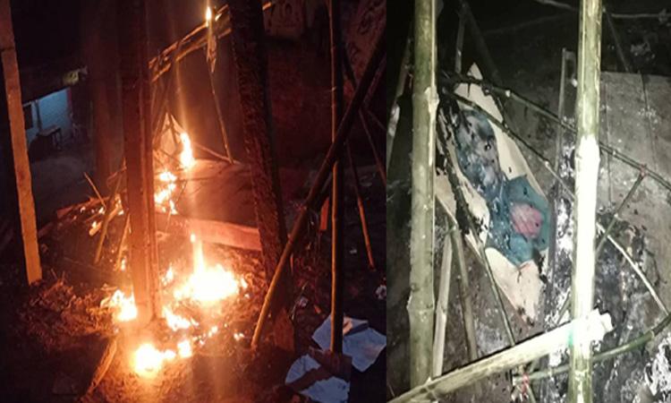 তালায় আওয়ামী লীগের নির্বাচনী অফিসে অগ্নিসংযোগ