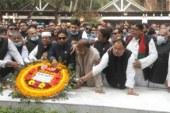 বঙ্গবন্ধু'র সমাধিতে জেলা আ'লীগের নবনির্বাচিত কমিটির শ্রদ্ধানিবেদন