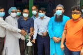 মোংলায় ফাদার রিগন শিক্ষা উন্নয়ন ফাউন্ডেশন'র অক্সিজেন সিলিন্ডার প্রদান